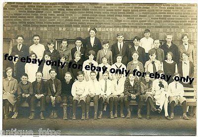 Vintage Old Photo Nice 1920's School Children Class Boys & Girls Fashion - 1920s Boys Fashion