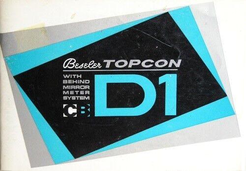 Beseler Topcon D1 Instruction Manual