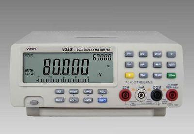 Us Ship Vici Digital Multimeter Vc8145 Bench Top Voltmeter Pc Dmm 80K Digit Cap