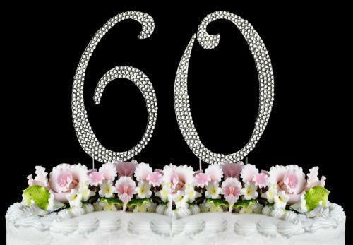 60th wedding anniversary cake toppers 60th anniversary cake topper ebay 1172