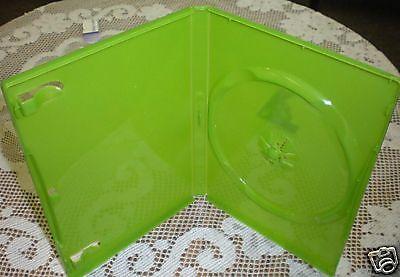 100 SINGLE XBOX DVD CD CASE Translucent Green  (Green Single Dvd Cases)