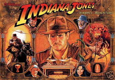 Indiana Jones Pinball Translite Brand New Next Generation Product!! Mr Pinball