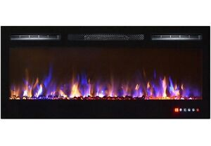"""50"""" 3 COLOUR CHANGING LED TOUCH SCREEN ELECTRIC FIREPLACE"""