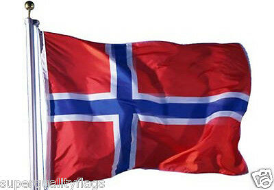 NORWAY NORWEGIAN FLAG WITH BRASS GROMMETS NEW 3x5 ft better quality USA SELLER