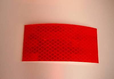 2 Reflektoren (271,81€/qm) Reflexfolie rot Konturmarkierung,Rückstrahler 10x5