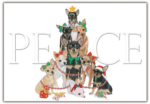 Chihuahua Christmas Cards Set of 10 cards & 10 envelopes