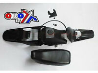 New YAMAHA PW 80 Plastics Plastic Kit Tank Seat Front & Rear Fender Black