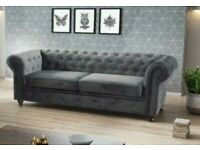 Chesterfield Plush Velvet 3+2 Seater Sofa Available in Discount Price with Super Fast Delivery