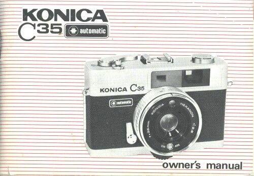 Konica C35 Automatic Instruction Manual