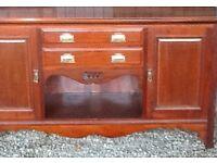 Solid mahogany dresser