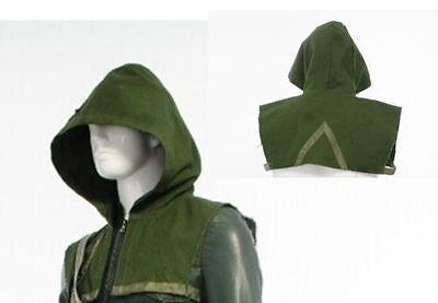 Green Arrow Oliver Queen Cosplay Costume Outfit Halloween Green Hood (no zipper) - Halloween Costumes Green Arrow