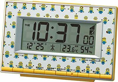De Mesa Reloj Amarillo 9.4x14.6x4cm Eléctrico Wave Minions Temperatura Humedad