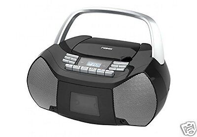 NAXA Electronics NPB-268 Portable CD/Cassette Boombox AM/FM Radio Player NEW
