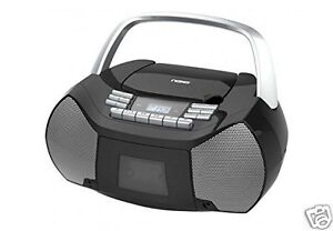 NAXA Electronics NPB-268 Portable CD/Cassette Boombox AM/FM Radio Player NEW