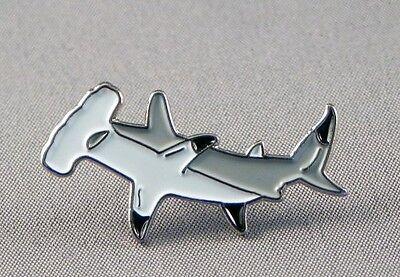 Hammerhead shark pin badge. Great new item.
