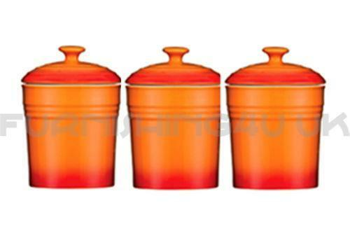 orange kitchen canisters ebay