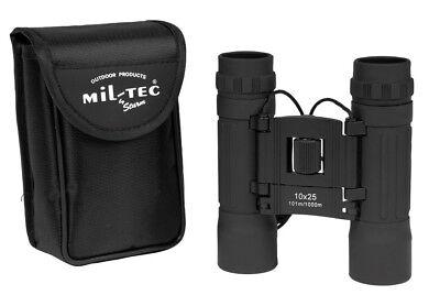 Mil-Tec Fernglas 10-fach Zoom 25mm 12x7x4cm Fernrohr Feldstecher