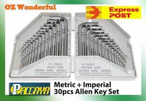 30PC SET METRIC & SAE COMBINATION ALLEN HEX WRENCH KEY SET Epping Whittlesea Area Preview