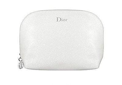 Dior Beauty Silver White makeup Cosmetics Bag