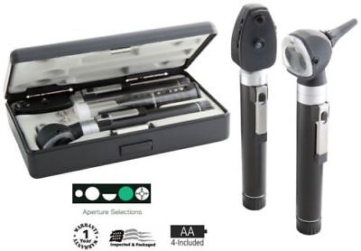 New Adc 5110n Dual Handle Pocket Otoscope Ophthalmoscope Set W Case