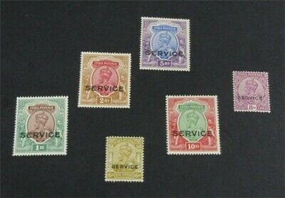 nystamps British India Stamp # O58-O63 Mint OG H $53   L30x3246