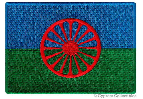 ROMANI FLAG embroidered iron-on PATCH SOUVENIR EMBLEM EUROPEAN GYPSY Todd Snider