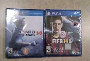 PS4 MLB 14 and FIFA 14 BRAND NEW