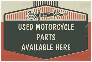 WE HAVE LOTS OF USED PARTS FOR METRIC MOTORCYCLES !!