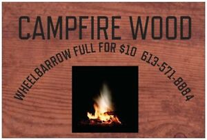 FIREWOOD FOR SALE GREAT FOR CAMPFIRES  ($10 WHEELBARROW)