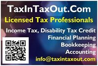 Income Tax, Disability Tax Credit, Bookkeeping, Accounting