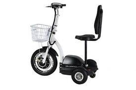 3 Wheel Mobility Scooter.Great for theme parks and shopping Malls. Virtually unused.