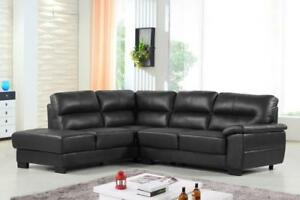 CONWAY LEATHER SECTIONAL - NO TAX - FREE DELIVERY