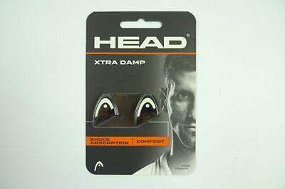 *NEU*2x Head Xtra Damp Logo schwarz weiss Dämpfer black white Dampener 2er vibra