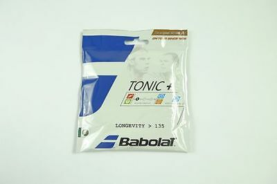 *NEU*Babolat Tonic+ Longevity (3,00€/lfd.m) Set 1.35mm Tennis 12m Naturdarm new