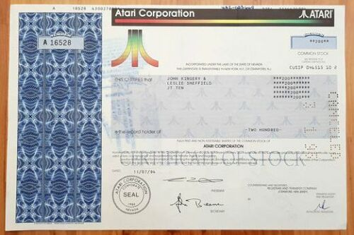 NICE ATARI STOCK w VY MINOR IMPERFECTION (Pen Mark, Mach Stamp or Folds) 70% OFF