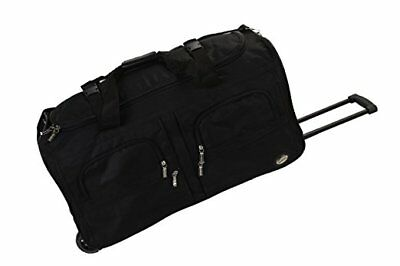 Rockland Luggage 36 Inch Rolling Duffle Bag Black X-Large with Wheels And Zipper