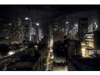 New York photo wallpaper- Manhattan at night