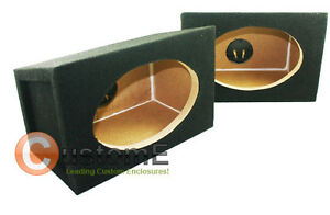 PAIR 6 X 9 x 2 BOX ENCLOSURES 4 CAR AUDIO SPEAKERS 6X9