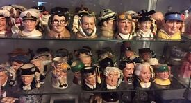 COLLECTION OF ROYAL DOULTON TOBY CHARACTER JUGS RARE INTERESTING JOB LOT