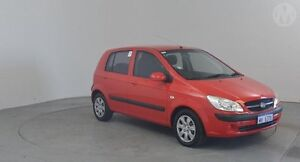 2009 Hyundai Getz TB MY09 S Hip Hop Red 4 Speed Automatic Hatchback Perth Airport Belmont Area Preview