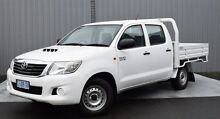 2011 Toyota Hilux KUN16R MY12 SR Double Cab White 5 Speed Manual Utility Invermay Launceston Area Preview