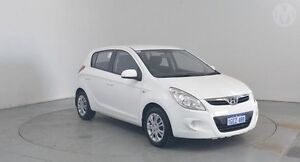 2011 Hyundai i20 PB MY12 Active White 4 Speed Automatic Hatchback Perth Airport Belmont Area Preview