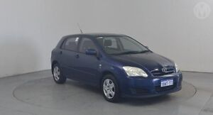 2005 Toyota Corolla ZZE122R Ascent Seca Cascade Blue 5 Speed Manual Hatchback Perth Airport Belmont Area Preview