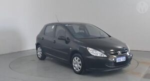 2001 Peugeot 307 1.6 Obsidian Black 5 Speed Manual Hatchback Perth Airport Belmont Area Preview