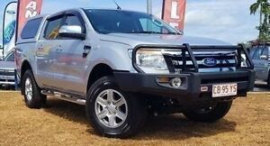 2014 Ford Ranger PX XLT Double Cab Silver 6 Speed Manual Utility Berrimah Darwin City Preview