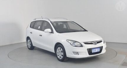 2010 Hyundai i30 FD MY10 CW SX 2.0 White 4 Speed Automatic Wagon Perth Airport Belmont Area Preview