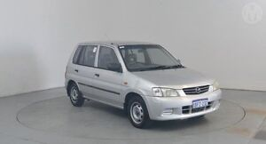 2002 Mazda 121 DW1032 MY01 Metro Shades Glacier Silver 5 Speed Manual Hatchback Perth Airport Belmont Area Preview