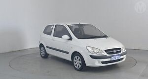 2009 Hyundai Getz TB MY09 SX Noble White 4 Speed Automatic Hatchback Perth Airport Belmont Area Preview