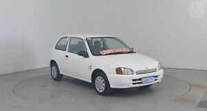1999 Toyota Starlet EP91R Life White 3 Speed Automatic Hatchback Perth Airport Belmont Area Preview