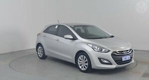 2014 Hyundai i30 GD MY14 Active 1.6 CRDi Sleek Silver 6 Speed Automatic Hatchback Perth Airport Belmont Area Preview